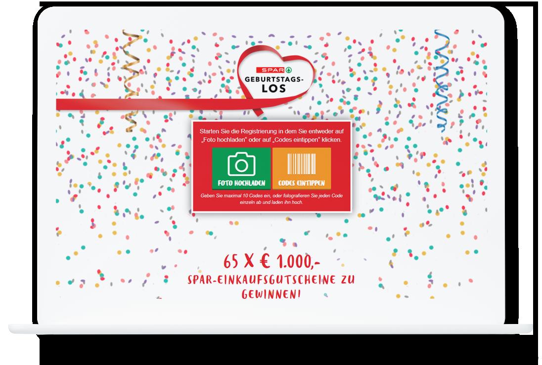 SPAR Geburtstagslos Online Promotion